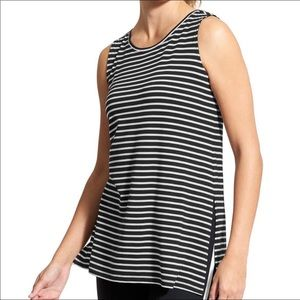 Athleta Stripe Side Split Tank Top XS